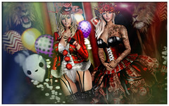 ♫Midnight Circus (reina.alice) Tags: circus second life secondlife moon amore moonamore lion tamer