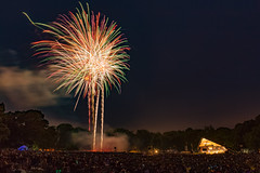 Summer Fireworks in Lancaster (North Arch Photography) Tags: night fireworks longspark fourthofjuly twilight pennsylvania july 4thofjuly 2016 longexposure lancastercity lancastercounty