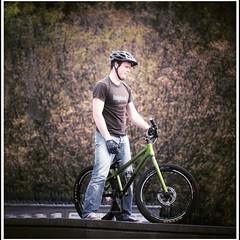 Cycling in Edinburgh (FotoFling Scotland) Tags: nmp cycling themound edinburgh cyclist male