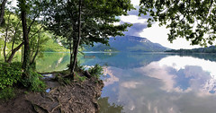 Aiguebelette lake panorama 08052018 (Mich73b) Tags: lake water lac france aiguebelette savoie waterscape eau paysage baie