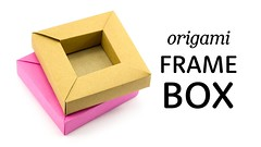 Origami Frame Box Tutorial - DIY Shadow Box - Paper Kawaii (paperkawaii) Tags: origami instructions paperkawaii papercraft diy how video youtube tutorial