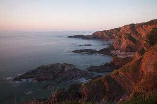 Sunset over Hele Bay