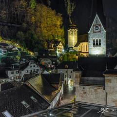 A Tranquil Moment (TVZ Photography) Tags: hdr highdynamicrange square 1x1 rooftops church tower hallstatt obertraun town village salzkammergut austria europe sony a7r voigtlander 21mm ultron