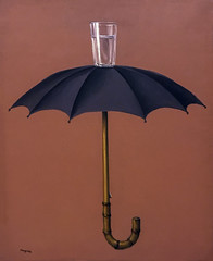 'Hegel's Holiday' by Rene Magritte (Greatest Paka Photography) Tags: renemagritte surrealism painting art artist suzigablik sfmoma hegelsholiday umbrella water glass belgian