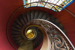 Spiral staircase of Museum of Fine Arts Saigon