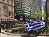 Flag Raising Ceremony - Bowling Green (Skellig2008) Tags: greek flag usa hellenic greece indepedenceday