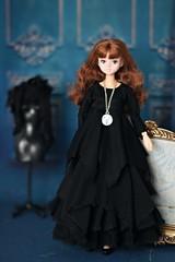 Dark mori style outfit (Elena_art) Tags: darkmori momoko licca commission outfit handmade