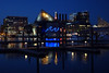 night lights, Baltimore (lucymagoo_images) Tags: sony rx100 baltimore maryland lightcity night city inner harbor buildings water reflections blue colors