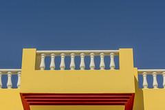 Yellow balcony (Jan van der Wolf) Tags: map182142vvvve balcony balkon fuerteventura sky balustrade white wit yellow geel red rood