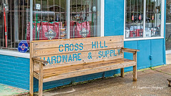 Cross Hill Bench (HBM) (augphoto) Tags: augphotoimagery bench blue building business exterior outdoors structure crosshill southcarolina unitedstates