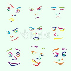 Various colorful drawn faces (Hebstreits) Tags: angry art background cartoon character cheerful collection comic cute design doodle draw drawing drawn element emoji emoticon emotion expression eyes face faces fun funny group hand happy head human icon icons illustration isolated laugh mouth people sad set sign sketch sketches smile smiley symbol tongue vector white