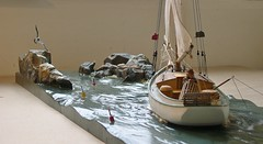 """Morning Quest"" stern port view -Rex Stewart (caseships) Tags: capecod quality woodsculpture bostonglobe bostonherald newyorktimes nautical maritime craftsman rexstewartoriginals sailing woodenboat nostalgia seagull waterlinemodel fishing lobstering newengland museumquality linkedin collectible capecodlife marthasvineyard shipbow coastal ocean fisherman lobstertraps shipmodel custommade massachusetts fineart carving nantucket nantucketdecor design water art"