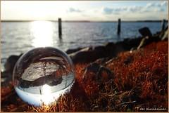 Verloren (der bischheimer) Tags: kugel glaskugel ball crystal rund see sonnenuntergang wasser derbischheimer