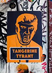 Tangerine Tyrant (justingreen19) Tags: 2017 donaldtrump england london presidenttrump shoreditch street tangerinetyrant trump uk ukvisit city currentaffairs graffiti justingreen19 mural news political politics poster posterart publicart streetart urban