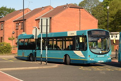 AMN 3902 @ Rugeley bus station (ianjpoole) Tags: arriva midlands volvo b7rle wright eclipse urban fj58hyl 3902 working route 63 cannock bus station rugeley
