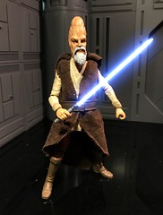 "Here is a custom SWBS 6"" Jedi Master Ki-Adi-Mundi. (chevy2who) Tags: master jedi toyphotography toy figure custom starwarsblackseries series black wars star"