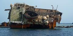It will never float again (werner boehm *) Tags: wernerboehm wreck streetoftiran egypt sinai redsea