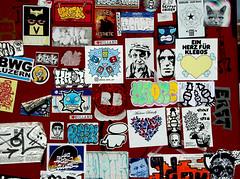 stickers in Amsterdam (wojofoto) Tags: stickers stickerart sticker combo stickercombo graffiti streetart amsterdam nederland netherland holland wojofoto wolfgangjosten wojo