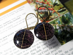 Skeleton leaf of Salal earrings (chaerea) Tags: earrings naturejewelry leafjewellery forest woodland forestfloor jewelry jewellery