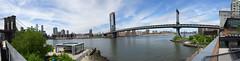 Panorama of Brooklyn Bridge, Lower Manhattan and Manhattan Bridge from DUMBO, New York City (iainh124a) Tags: iainh124a nyc ny bigapple manhattan sony sonycybershot dschx90 dschs90v cybershot dx90 dx90v
