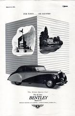 1951 Bentley Mark VI 4-5 Litre Saloon English Original Magazine Advertisement (Darren Marlow) Tags: 1 5 9 19 51 1951 b bentley mark m v i vi 4 45 l litre s saloon c car cool collectors collectible classic luxury a automobile vehicle british britain e england english 50s