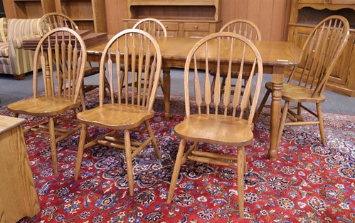 House of Oak Extension Table w/ 3 Leaves and Chairs ($1,008.00)
