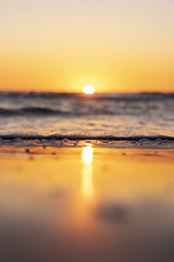 Sunset (SeanMcWhite) Tags: sunset beach water waves rocks nature passagrille florida photography blur focus