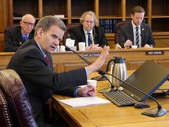 Sheldon Fisher - House Finance Committee - April 23, 2018. (KTOO Public Media) Tags: alaskacommissionerofrevenue sheldonfisher house bill 331 hb331 bonds tax credits oil companies