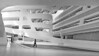 brave new world (heinzkren) Tags: schwarzweis blackandwhite bw sw monochrome architektur architecture wien vienna austria panasonic lumix campus atrium bibliothek colleg wu wirtschaftsuniversität indoor economicuniversity eingang entrance entree gebäude building design lines zahahadid candid library