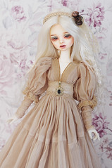 Little Miracle (AyuAna) Tags: bjd ball jointed doll dollfie ayuana design minidesign handmade ooak clothing clothes dress set outfit robe vetement gown historical style minifee mnf slim msd girl size fairyland dim benetia hybrid withdoll body