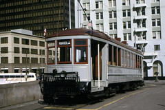 US CA San Francisco MUNI 1 11-1972 Transbay Terminal (David Pirmann) Tags: california sanfrancisco muni tram trolley streetcar transit railroad transportation