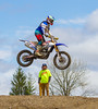 Over The Flagman (John Kocijanski) Tags: motorcycle motocross dirtbike people race sport rider racer vehicle canon70300mmllens canon7d