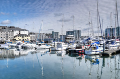 Sutton Harbour, Plymouth (Baz Richardson (catching up again)) Tags: devon plymouth suttonharbour yachts marinas reflections