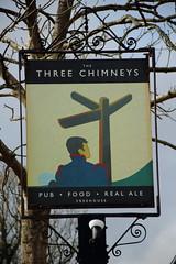 Pub sign for The Three Chimneys, Goudhurst. (Peter Anthony Gorman) Tags: pubsigns threechimneys kentpubs goudhurst