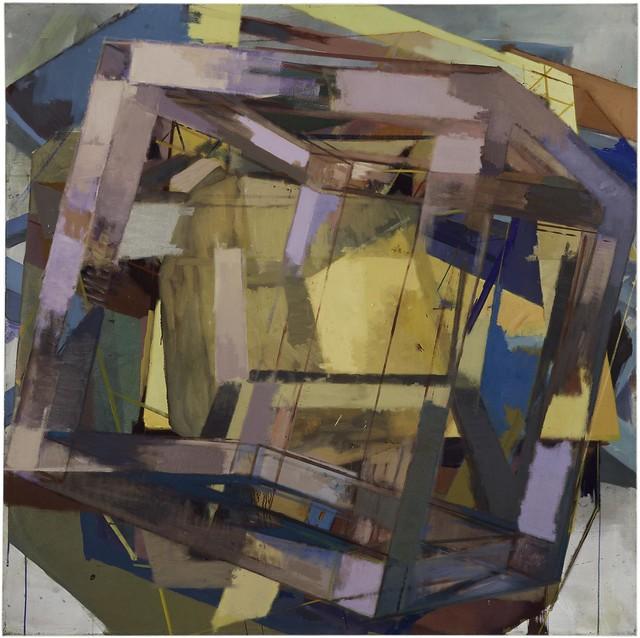 Zentripetalbeschleunigung, 120 x 120 cm, Eggtempera/Oil on muslin, 2015