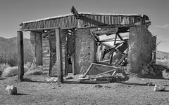 Ballarat Ghost Town, Panamint Valley, Death Valley National Park, California 2018 (bdrameyphotography) Tags: deathvalleynationalpark deathvalley mojavedesert california ballaratghosttown panamintvalley monochrome blackandwhite bw nikond810 luminar2018 skylum hdr aurora2018hdr