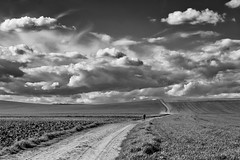 Intemperie (una cierta mirada) Tags: landscape sky clouds cloudscape land earth paths road nature bnw blackandwhite meco outdoors