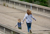 A mother and her child playfully run along the abandoned Arroyo Hondo bridge (beltz6) Tags: santabarbara gaviota gaviotacoast bridge bridges arroyohondo mothersday child parent mother run running