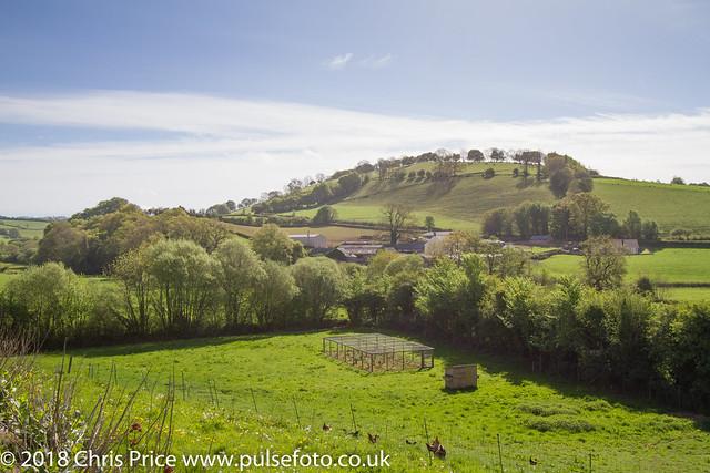 Barton Knap from Castle Hill, Bampton, Devon