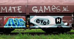graffiti on freights (wojofoto) Tags: amsterdam nederland netherland holland graffiti streetart freighttraingraffiti freighttrain fr8 cargotrain vrachttrein wojofoto wolfgangjosten rolek evol