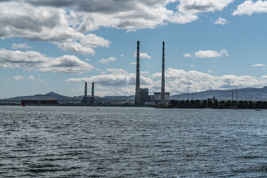 THE POOLBEG STACKS [AS SEEN FROM CLONTARF ROAD IN DUBLIN]-139848