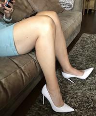 MyLeggyLady (MyLeggyLady) Tags: hotwife sexy milf teasing secretary miniskirt thighs pumps stiletto cfm heels legs