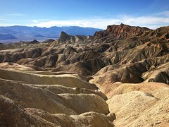 Zabriskie Point, Death Valley, California (PeterCH51) Tags: zabriskiepoint zabriskie deathvalley nationalpark deathvalleynationalpark california usa desert scenery landscape erosion iphone peterch51