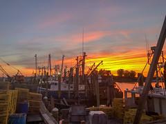 Watching the sun set from Jack Baker's Patio Bar in Point Pleasant Beach, NJ. Captured via an iPhone 8 Plus. (apardavila) Tags: jackbakerspatiobar jackbakerswharfside jerseyshore manasquanriver pointpleasantbeach iphone iphone8plus river sky sun sunset