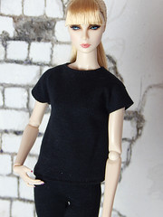 """Capsule Collection – the """"Casual"""" set (Levitation_inc.) Tags: ooak doll clothes clothing fashion fashions dolls handmade etsy levitation levitationfashion royalty fr fr2 nuface poppy parker barbie made move outfit black white basic basics capsule collection wardrobe"""