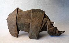 Rinoceronte (mrmicawer) Tags: papiroflexia origami papel rinoceronte rhino paquidermo áfrica cuernos
