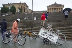 DSC02048 (lucymagoo_images) Tags: philly rideofsilence bike bicycle bici bicicleta urban city rain rainy street sony rx100 art museum philadelphia cyclist bicyclist