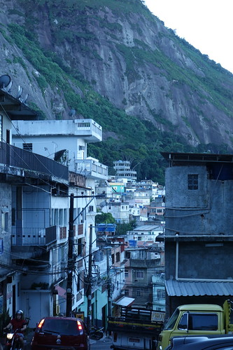Une des rues de la favela