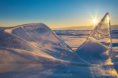 Ice fins sunset (Massimo Sotto) Tags: adventure arctic baikal blue cold crystal frost frozen ice irkutsk irkutskregion lake landscape march nature nobody olkhon outdoor russia siberia snow sunset travel winter