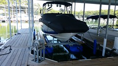 6600 UL2, 26ft Cobalt on a HydroHoist Boat Lift